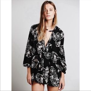 Free People Floral Foul Swing Tunic Dress
